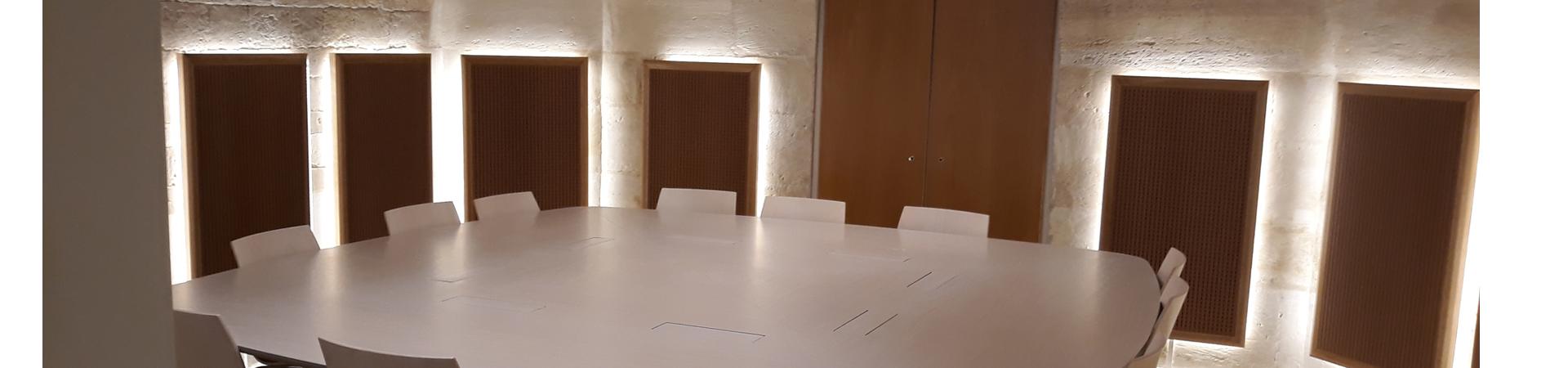 Table réunion acoustique