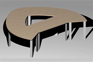 Tables de réunion modulables